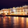 Stock Photo: Dvortsovayembankment at night. Saint Petersburg