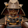 Image of samurai armour on black — Stock Photo