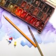 Painting lesson concept — Stock Photo