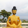Stock Photo: Sculpture of fasting Buddhin thailand