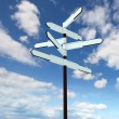 Stock fotografie: Image of blank signpost over blue sky