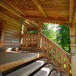 Veranda of traditional russian house — Stock Photo