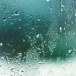 Water drops on window — Stock Photo