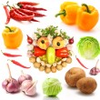 Set of vegetables isolated on white — Stock Photo