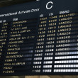 Airport arrival board — Stock Photo