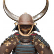 Image of samurai armour on white with clipping path — Stock Photo