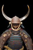 Image of samurai armour on black with clipping path — Stock Photo