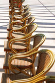 Image of wicker chairs in hotel on south — Stock Photo