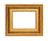 Golden art frame isolated on white background — Stock Photo