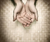 Image of hands asking for beg — Stock Photo