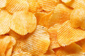 Potato chips background — Stock Photo