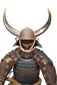 Image de l'armure de samouraï sur blanc avec un tracé de détourage — Photo