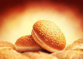 Image of buns with sesame seeds — Stock Photo