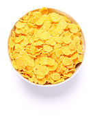 Bowl full of cornflakes — Stock Photo