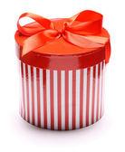 Immagine di striping giftbox isolato su sfondo bianco — Foto Stock