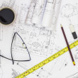 Architect drawings — Stock Photo #32952969