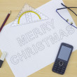 Stock Photo: Merry Christmas Blueprints