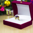 Stock Photo: Christmas gift ring