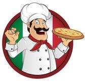 Italian chef — Stock Vector