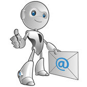 Robot email — Stock Vector
