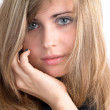 Stock Photo: Portrait of beautiful girl with disheveled hair