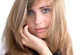 Portrait of a beautiful girl with disheveled hair — Stock Photo