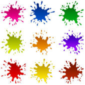 Multicoloured Blots — Stock Vector