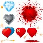 Постер, плакат: Set of various hearts