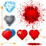 ������, ������: Set of various hearts