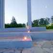 Memorial Candles Burning for Memorial Ceremony — Stock Photo #30757625