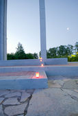 Memorial Candles Burning for Memorial Ceremony — Stock Photo