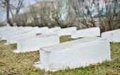 Nagrobków na cmentarzu — Zdjęcie stockowe