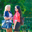 Two girlfriends in park — Stock Photo #31302597