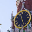 Old clock on tower (Russia, kremlin chimes) — Stock Photo