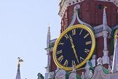 Vecchio orologio sulla torre (russia, kremlin chimes) — Foto Stock