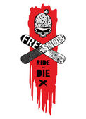 Ride or Die — Vector de stock
