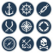 Sea icon set — Stock Vector