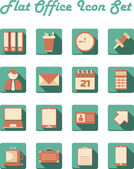 Flat office icon set — Stock Vector