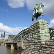 Cologne - Equestrian statue of Wilhelm I. — Stock Photo