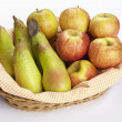 Basket of apples and pears — Stock Photo