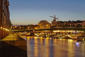 Bremen, Germany - River Weser, Teerhof and Schlachte-Riverside in the evening — Stock Photo