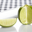 Lime on a plate — Stock Photo