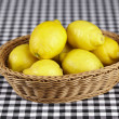 Basket of lemons — Stock Photo