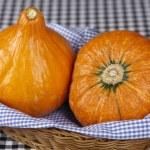 Basket of hokkaido pumpkins — Stock Photo #29661987
