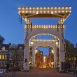 Amsterdam, Netherlands - Drawbridge in the evening — Stock Photo