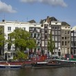 Amsterdam, Netherlands - Old houses at a canal — Stock Photo