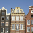 Amsterdam, Netherlands - Gable of old houses — Stok fotoğraf