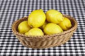Basket of lemons — Stock Photo