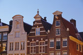 Amsterdam, Netherlands - Gables in the evening — Stock Photo
