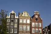 Amsterdam, Netherlands - Gable of old houses — Stock Photo
